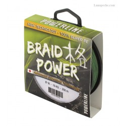 TRESSE POWERLINE BRAID POWER  VERTE  130 M