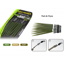 EMERILLON RAPIDE PACK QUICK SWIVEL / SLEEVES FUN FISHING